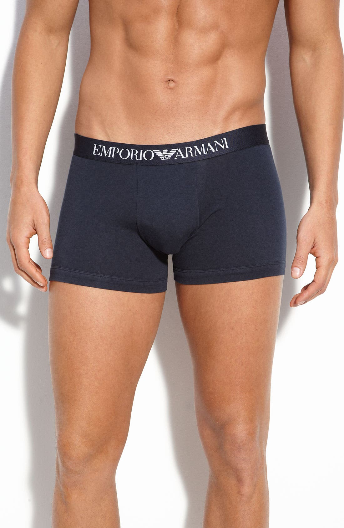Alternate Image 1 Selected - Emporio Armani Stretch Cotton Boxer Briefs