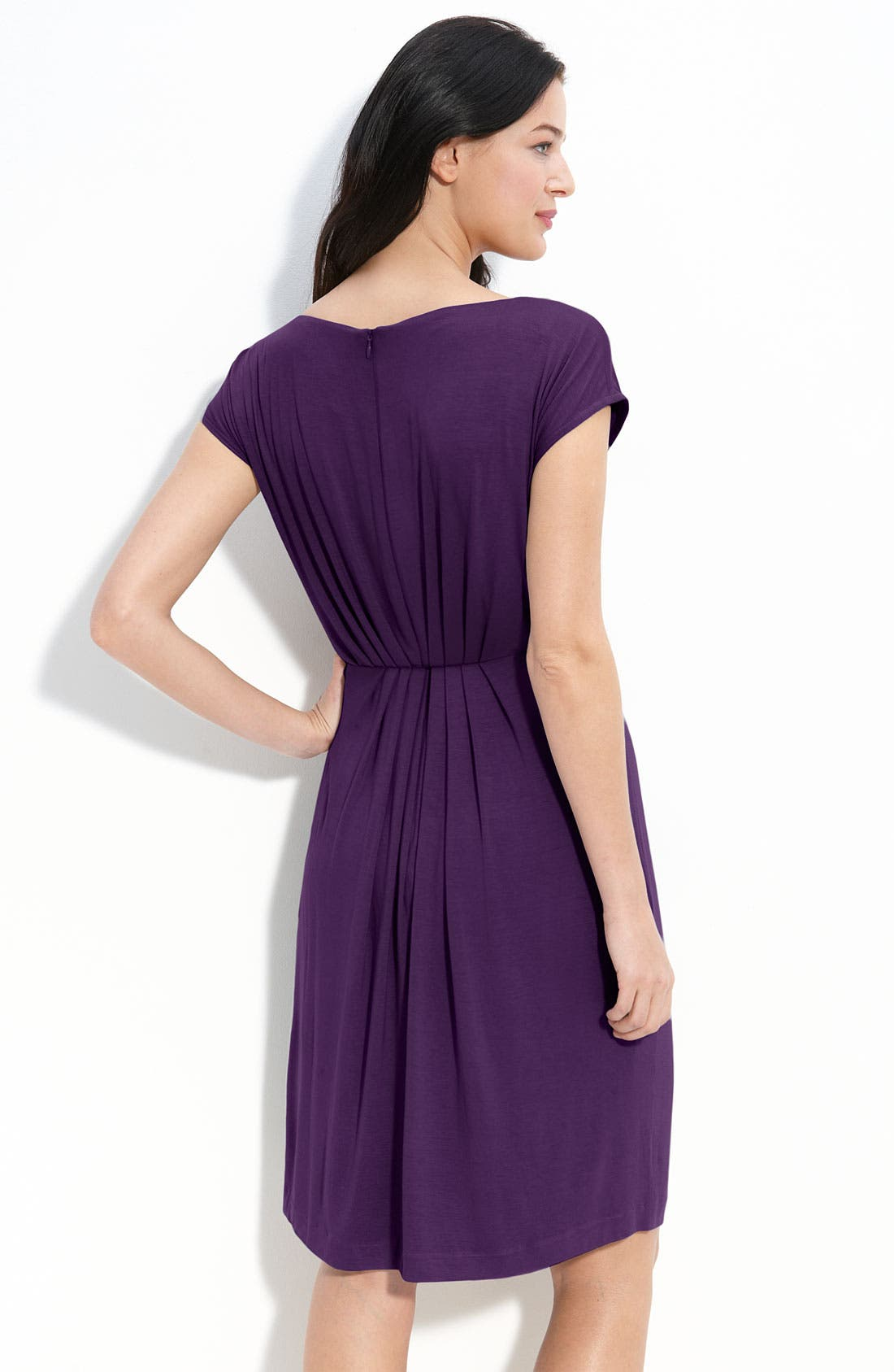 Alternate Image 2  - Suzi Chin for Maggy Boutique Pleat Jersey Dress
