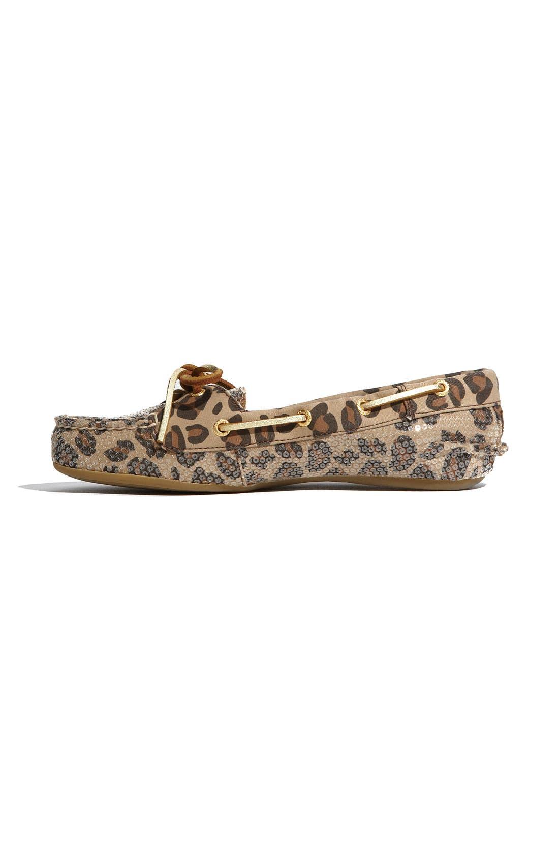Top-Sider<sup>®</sup> 'Skiff' Moccasin Slip-On,                             Alternate thumbnail 2, color,                             Leopard Sequins