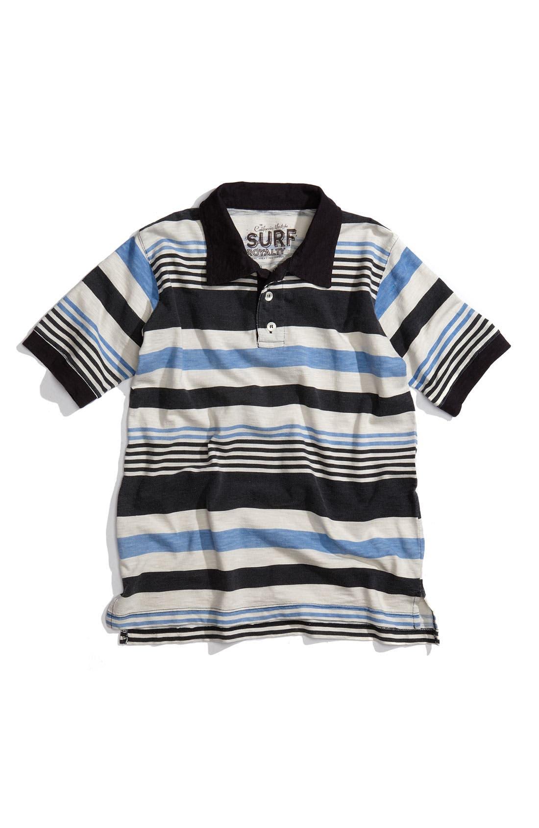 Alternate Image 1 Selected - Peek 'Malibu Stripe' Polo (Toddler)