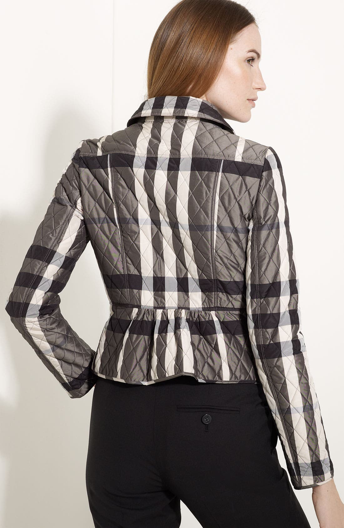 Alternate Image 2  - Burberry London Quilted Check Print Jacket