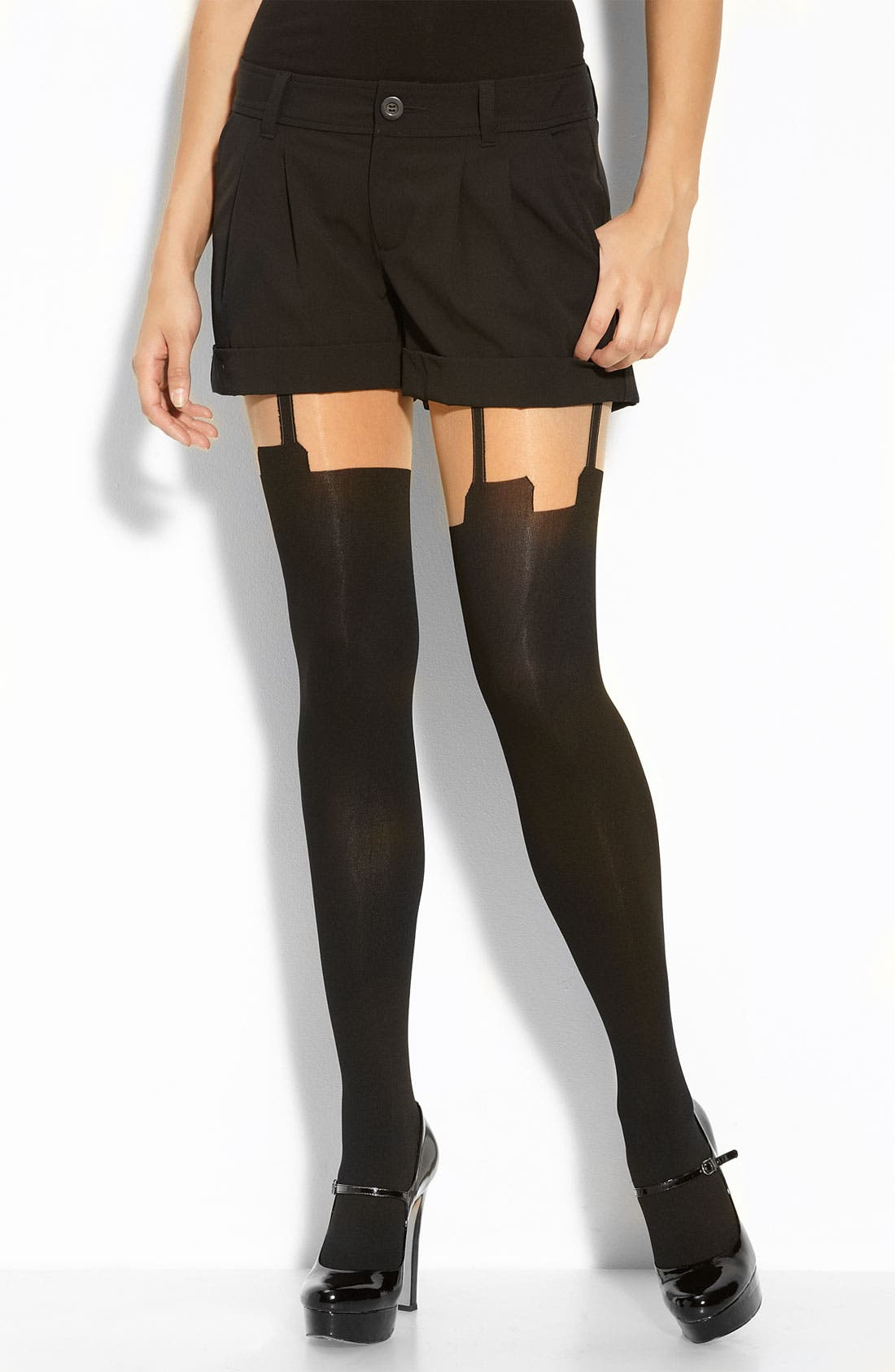 Main Image - Pretty Polly 'House of Holland Super Suspender' Tights