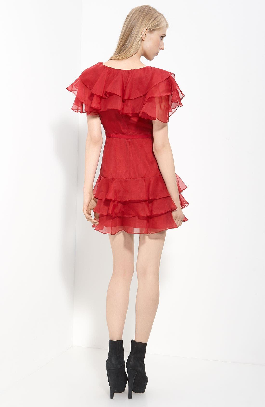 Alternate Image 2  - Rachel Zoe Tiered Organza Dress
