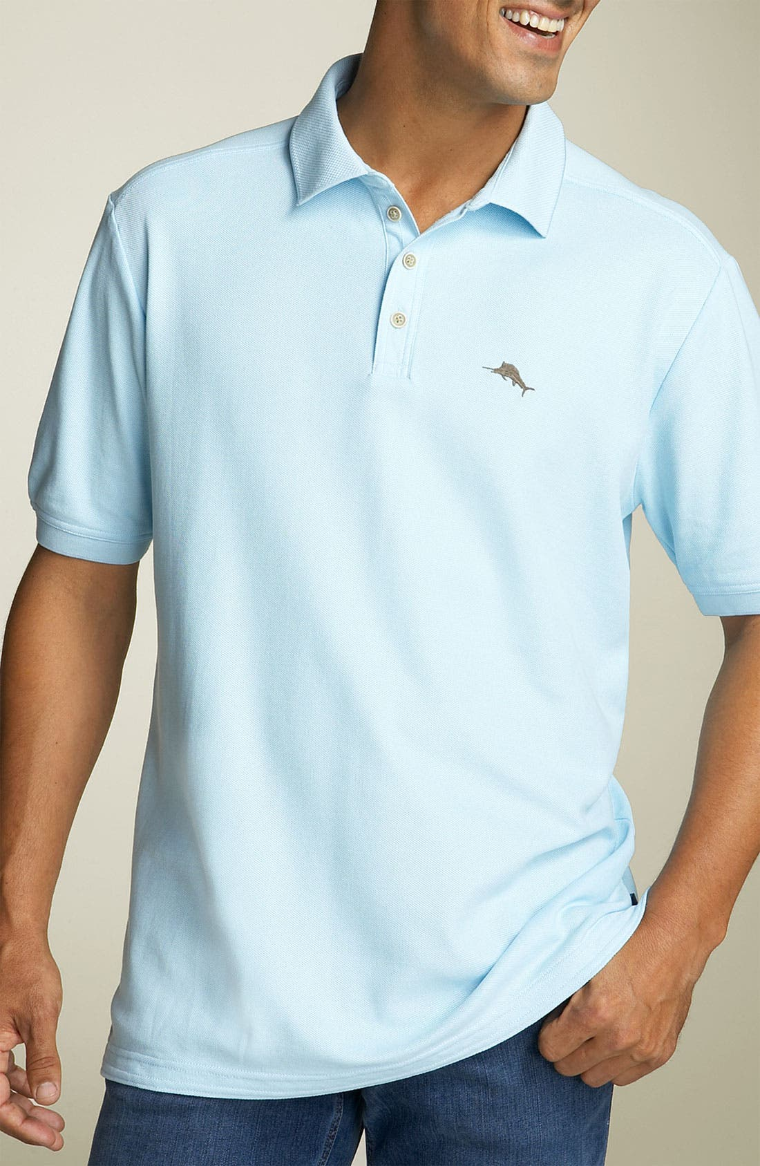 'The Emfielder' Original Fit Piqué Polo,                         Main,                         color, Crystal Ice