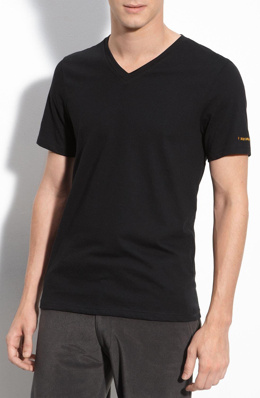 Alternate Image 1 Selected - BOSS Orange 'Innovation' V-Neck T-Shirt