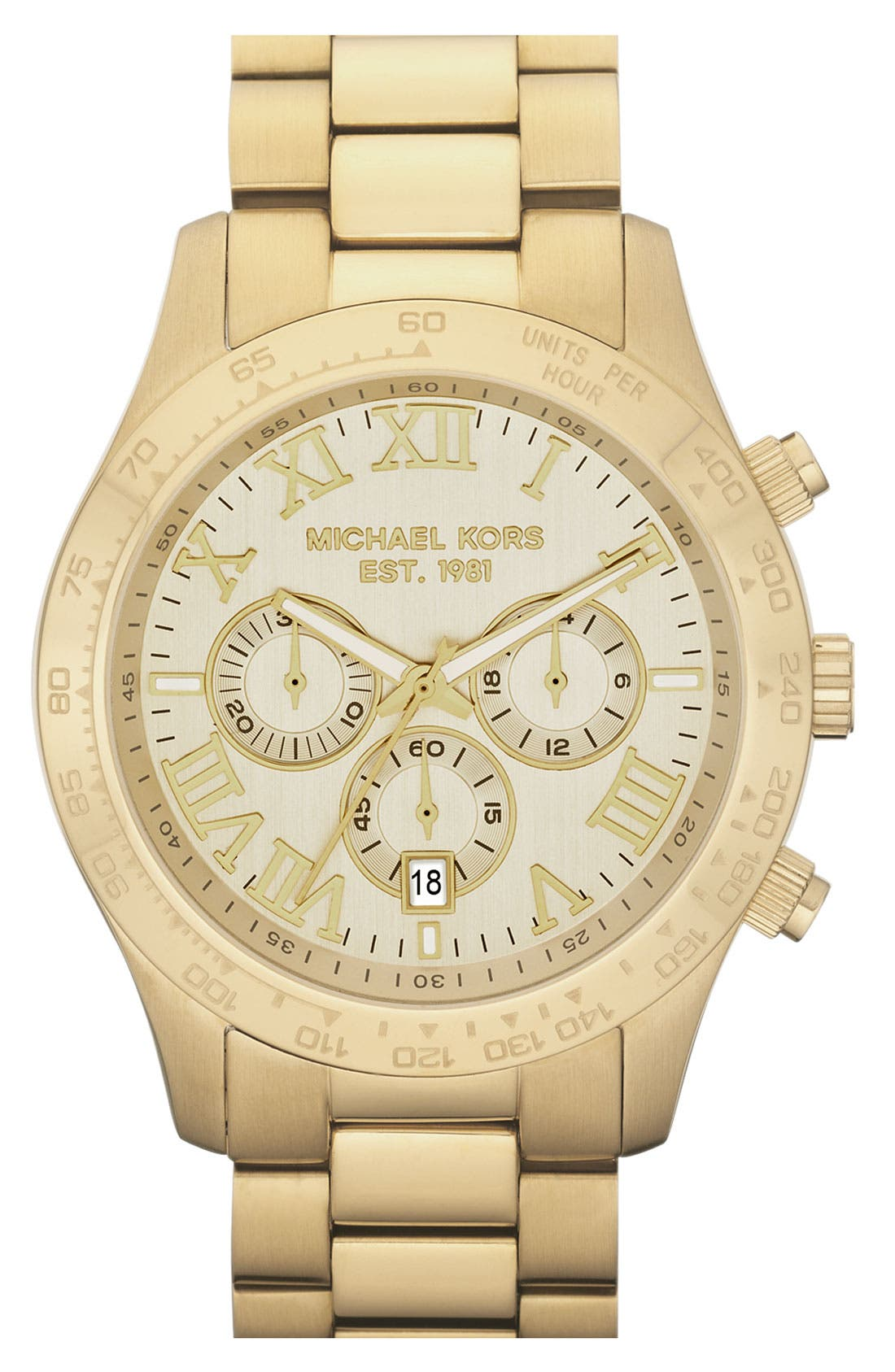 'Large Layton' Chronograph Watch, 45mm,                         Main,                         color, Gold