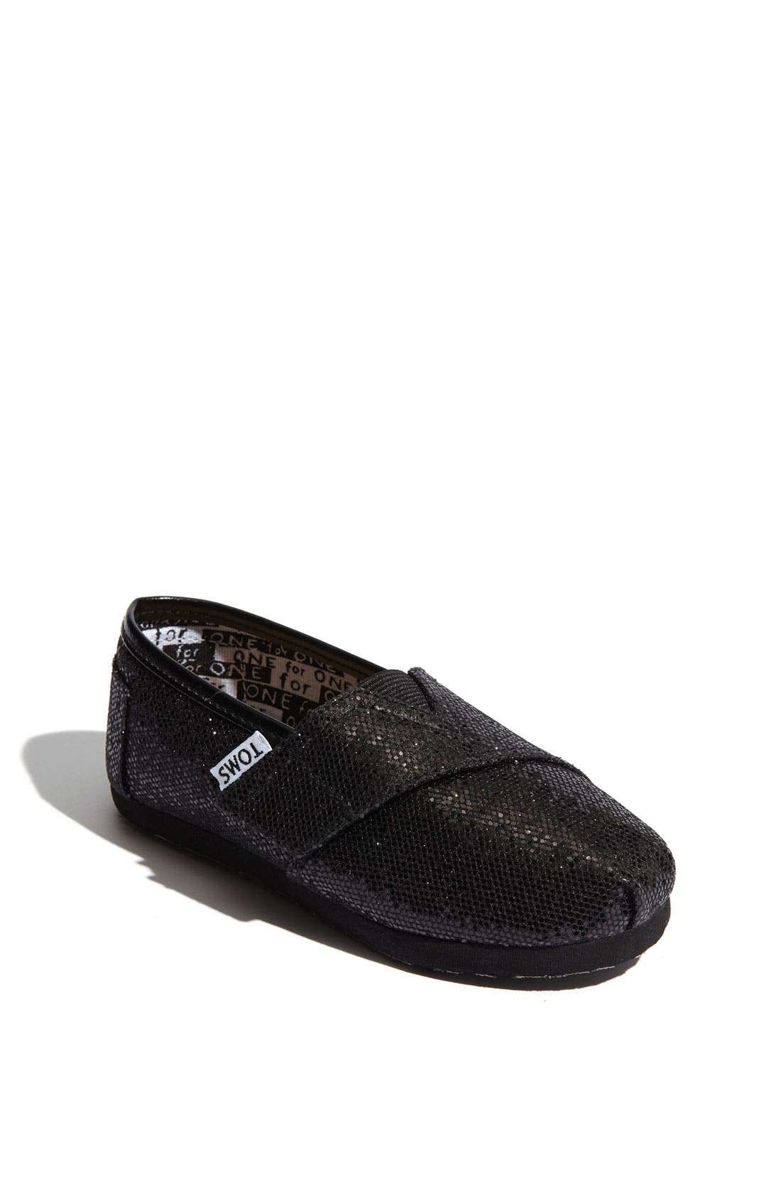 Alternate Image 1 Selected - TOMS 'Classic Tiny - Glitter' Slip-On (Baby, Walker & Toddler)
