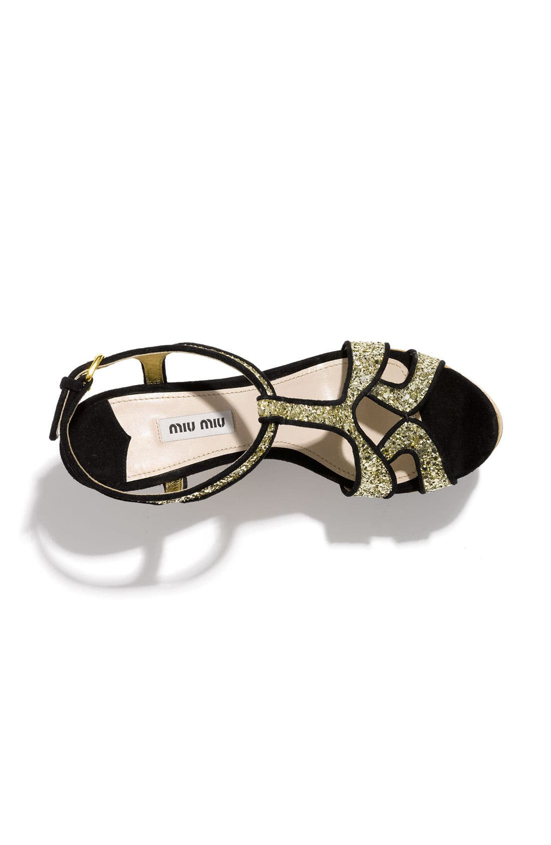 Alternate Image 3  - Miu Miu Glitter Wedge Platform Sandal
