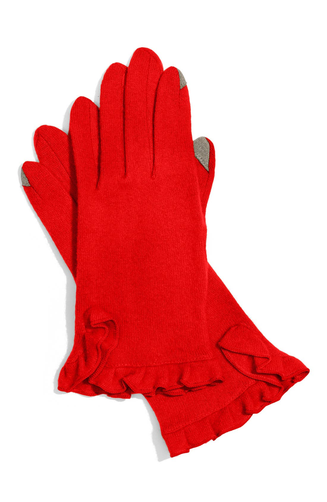 'Touch' Tech Gloves,                             Main thumbnail 1, color,                             Lacquer Red