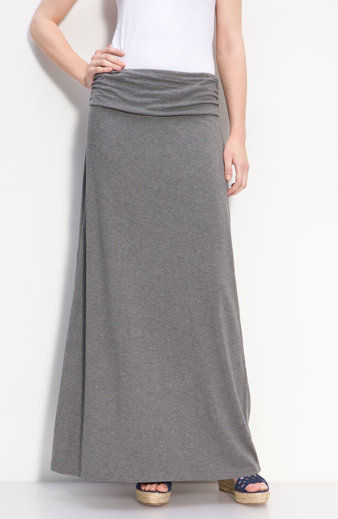Main Image - Caslon® Ruched Waist Maxi Skirt