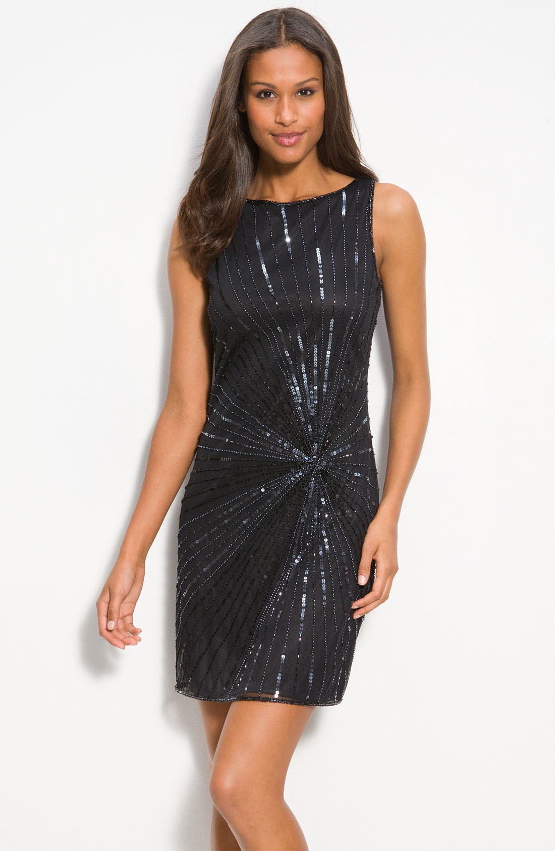 Main Image - Pisarro Nights Bead & Sequin Shift Dress