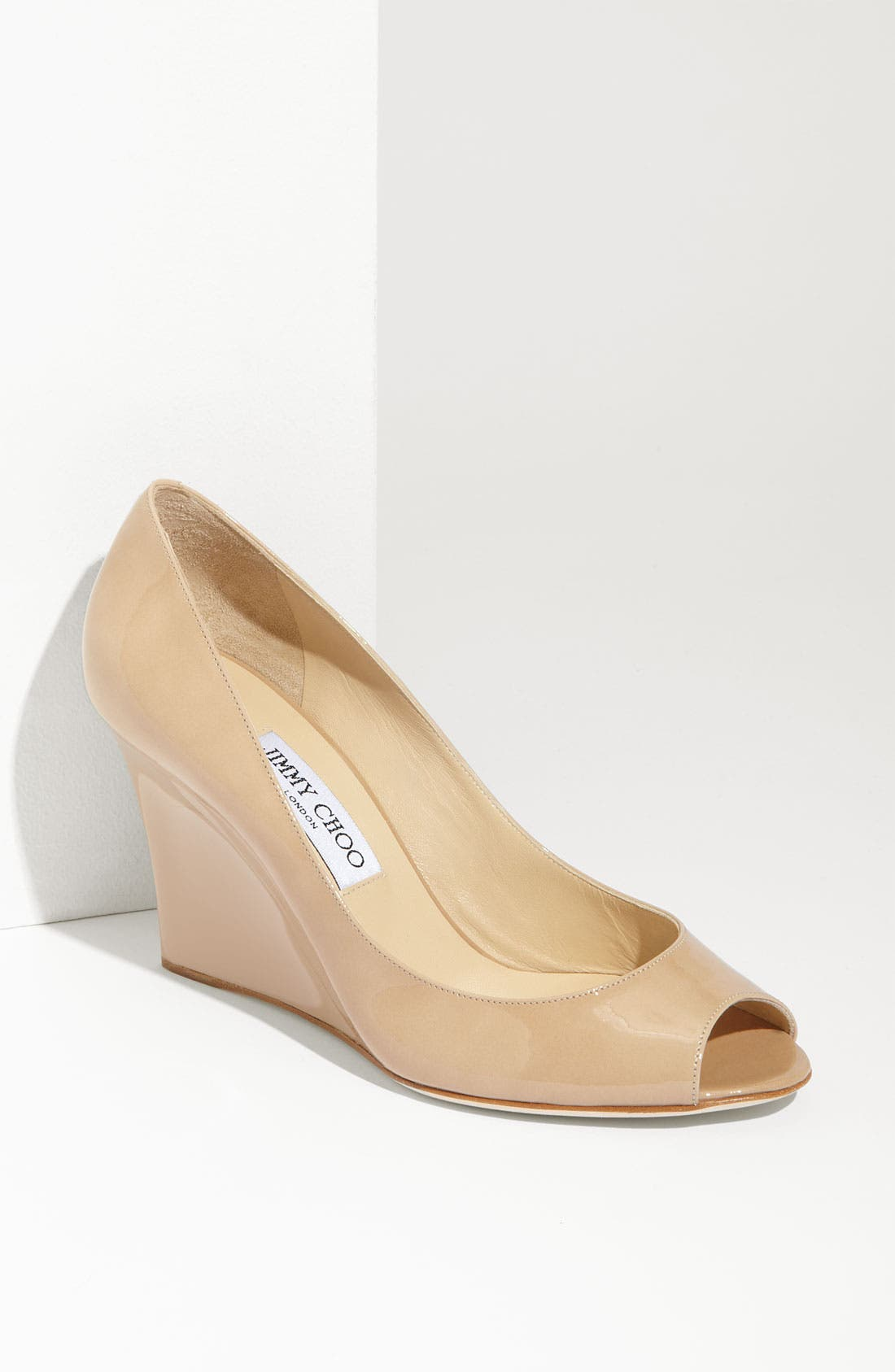 Alternate Image 1 Selected - Jimmy Choo 'Baxen' Peep Toe Wedge