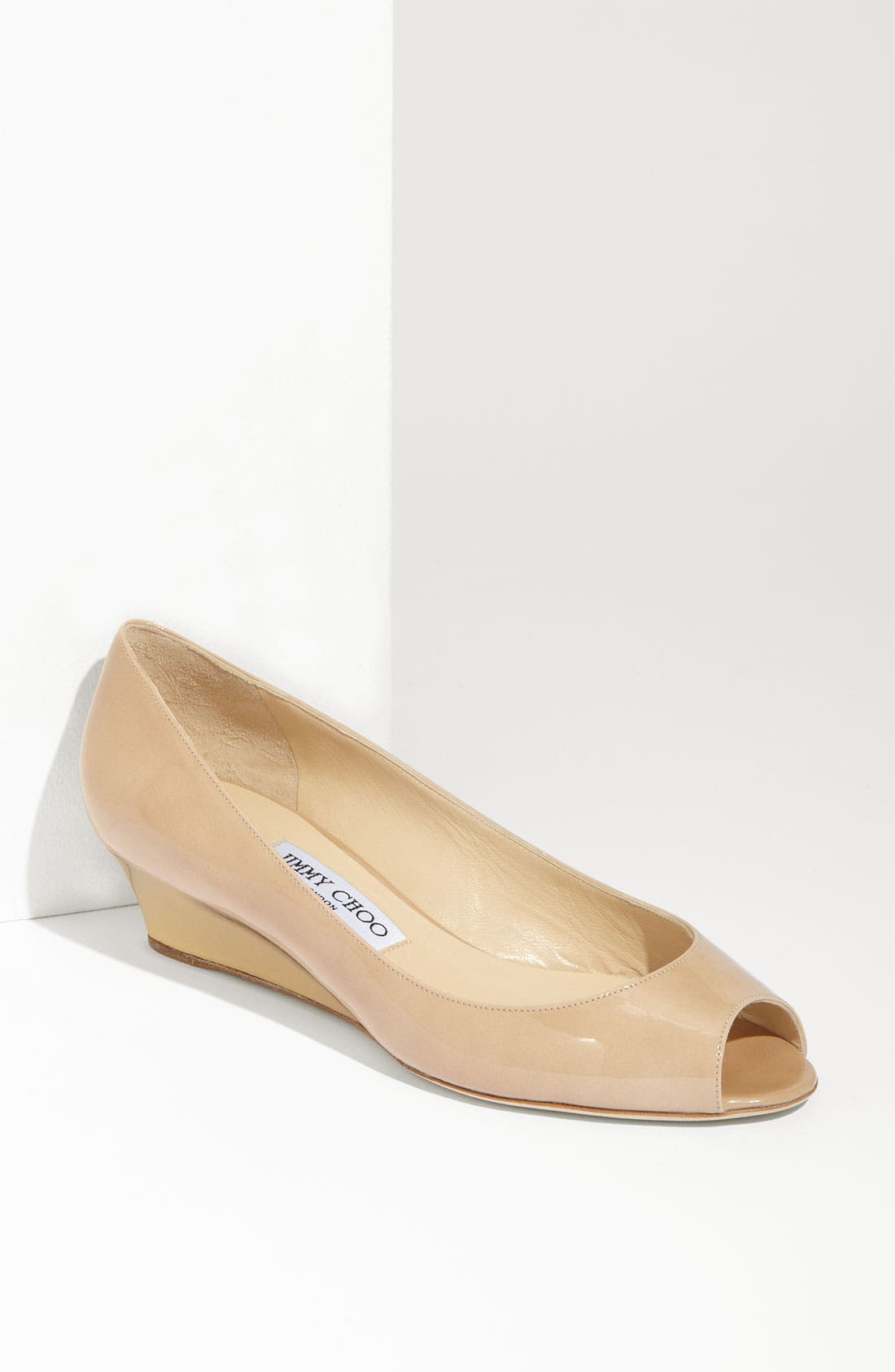 Main Image - Jimmy Choo 'Bergen' Peep Toe Wedge