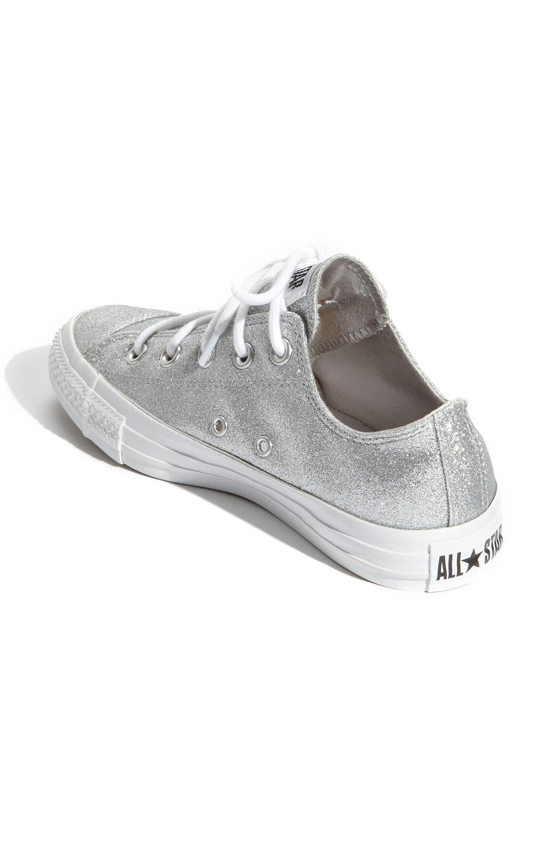 Chuck Taylor<sup>®</sup> 'Winter Glitz' Sneaker,                             Alternate thumbnail 2, color,                             Silver