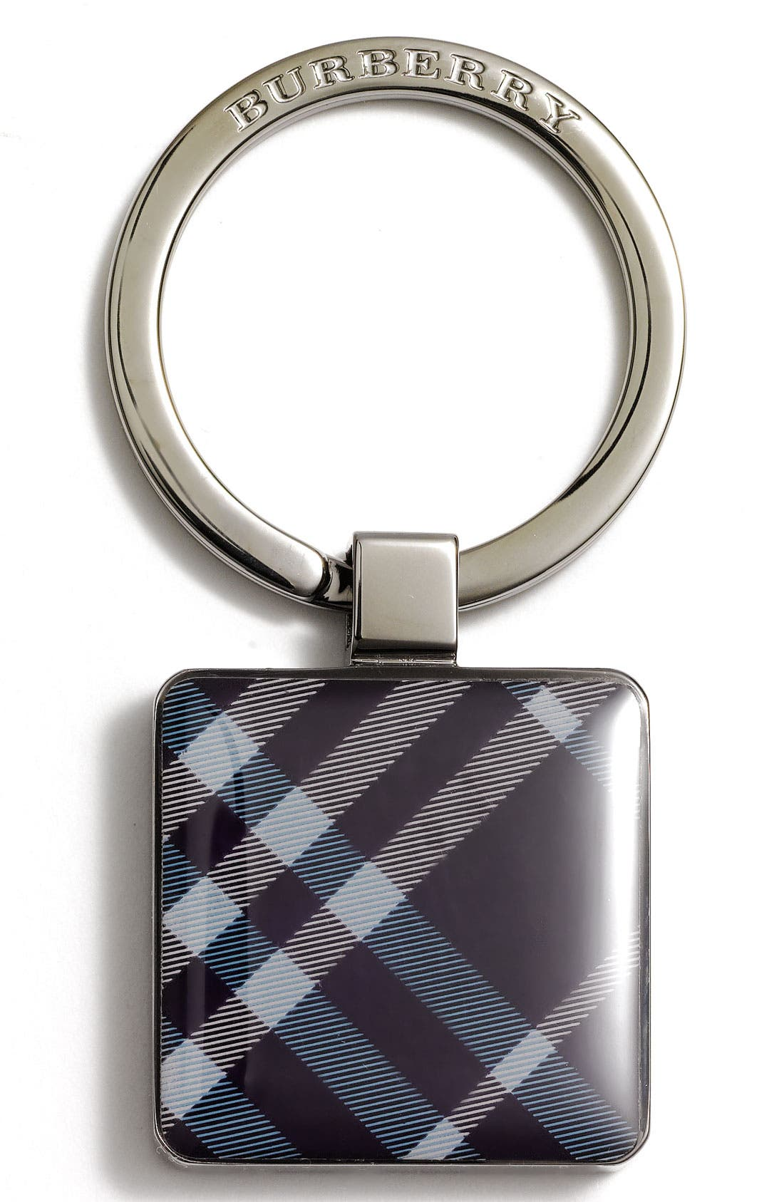 Main Image - Burberry Enameled Check Print Key Ring