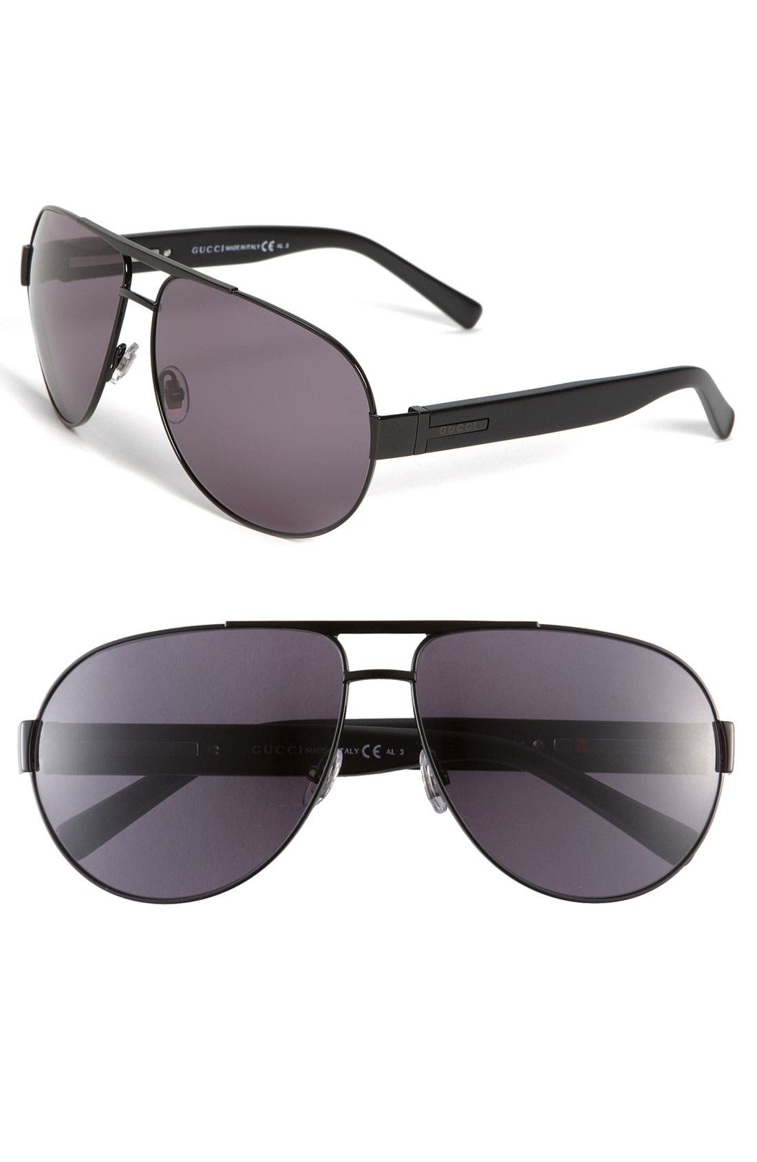 Main Image - Gucci Stainless Steel Aviator Sunglasses