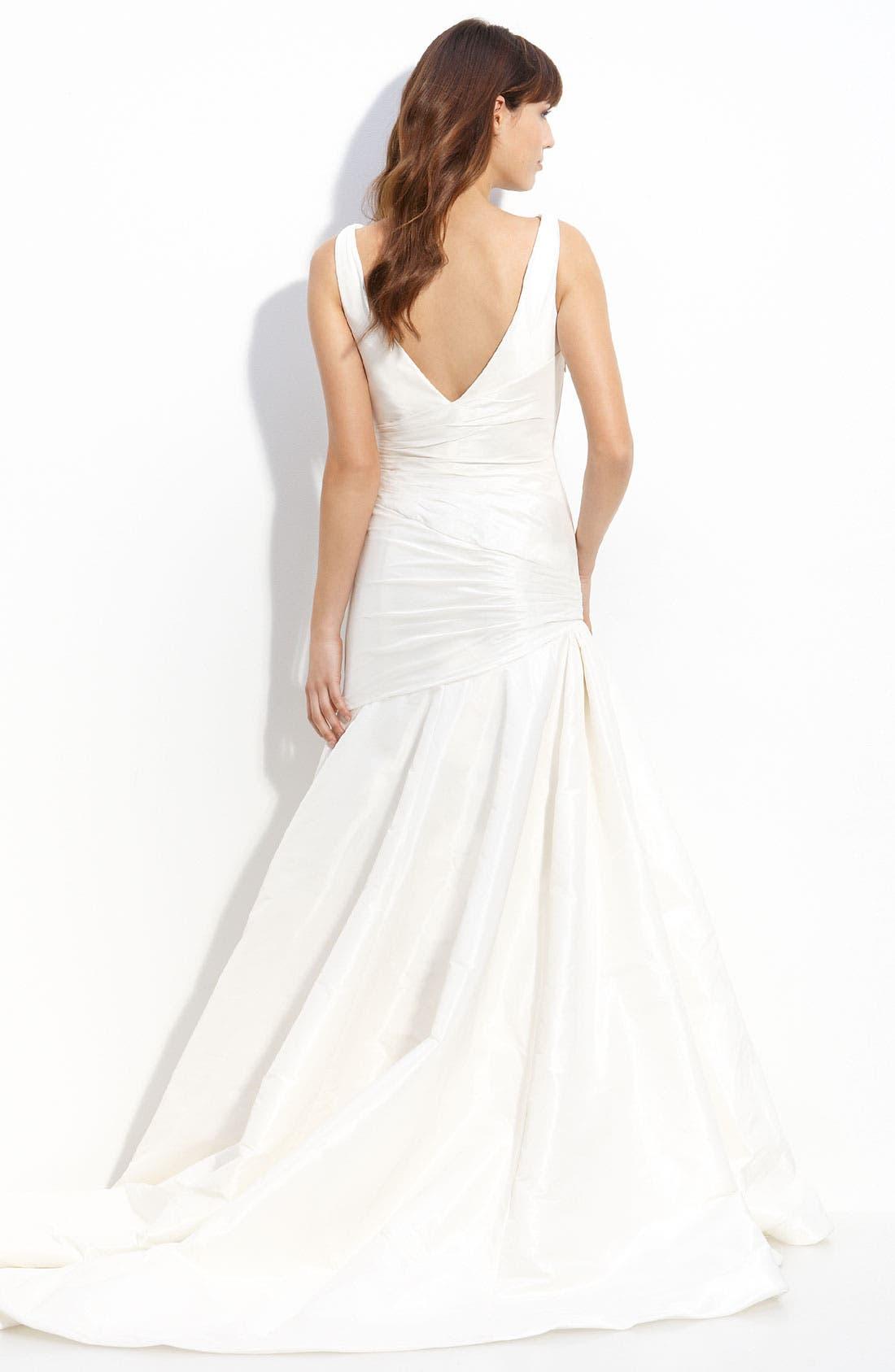 Alternate Image 2  - Carmen Marc Valvo 'Chelsea' Taffeta Gown