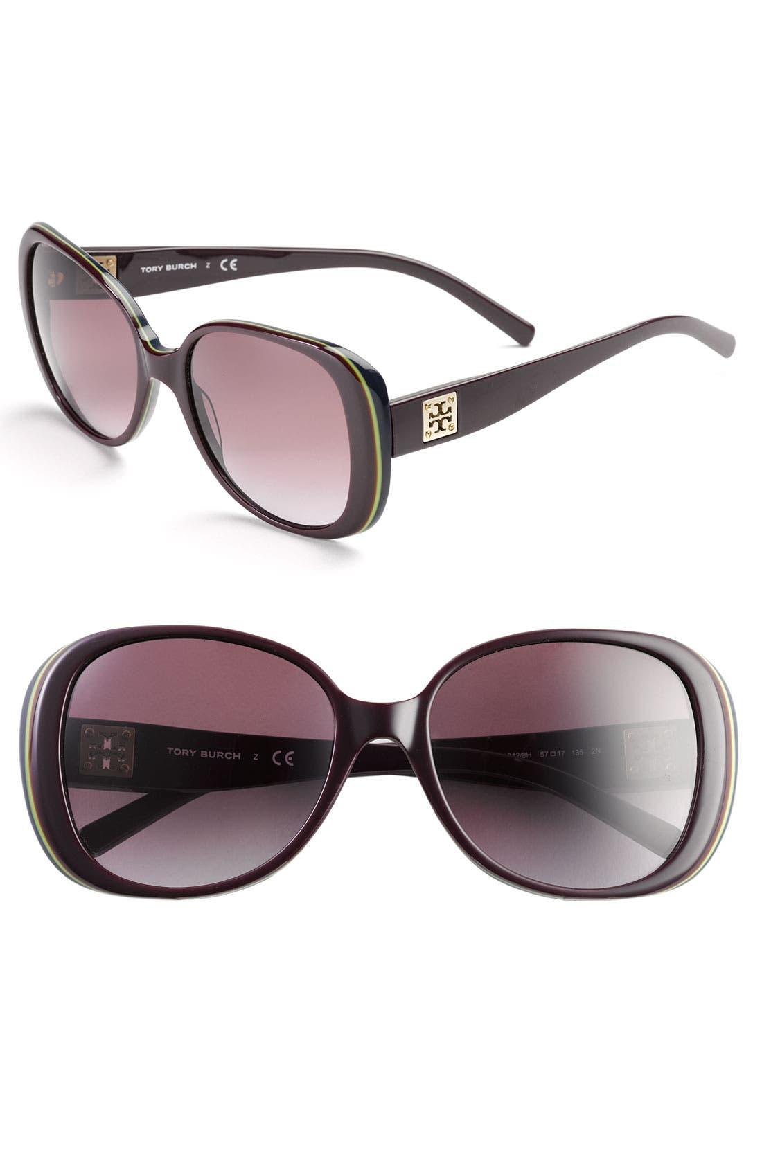 Alternate Image 1 Selected - Tory Burch 57mm Sunglasses