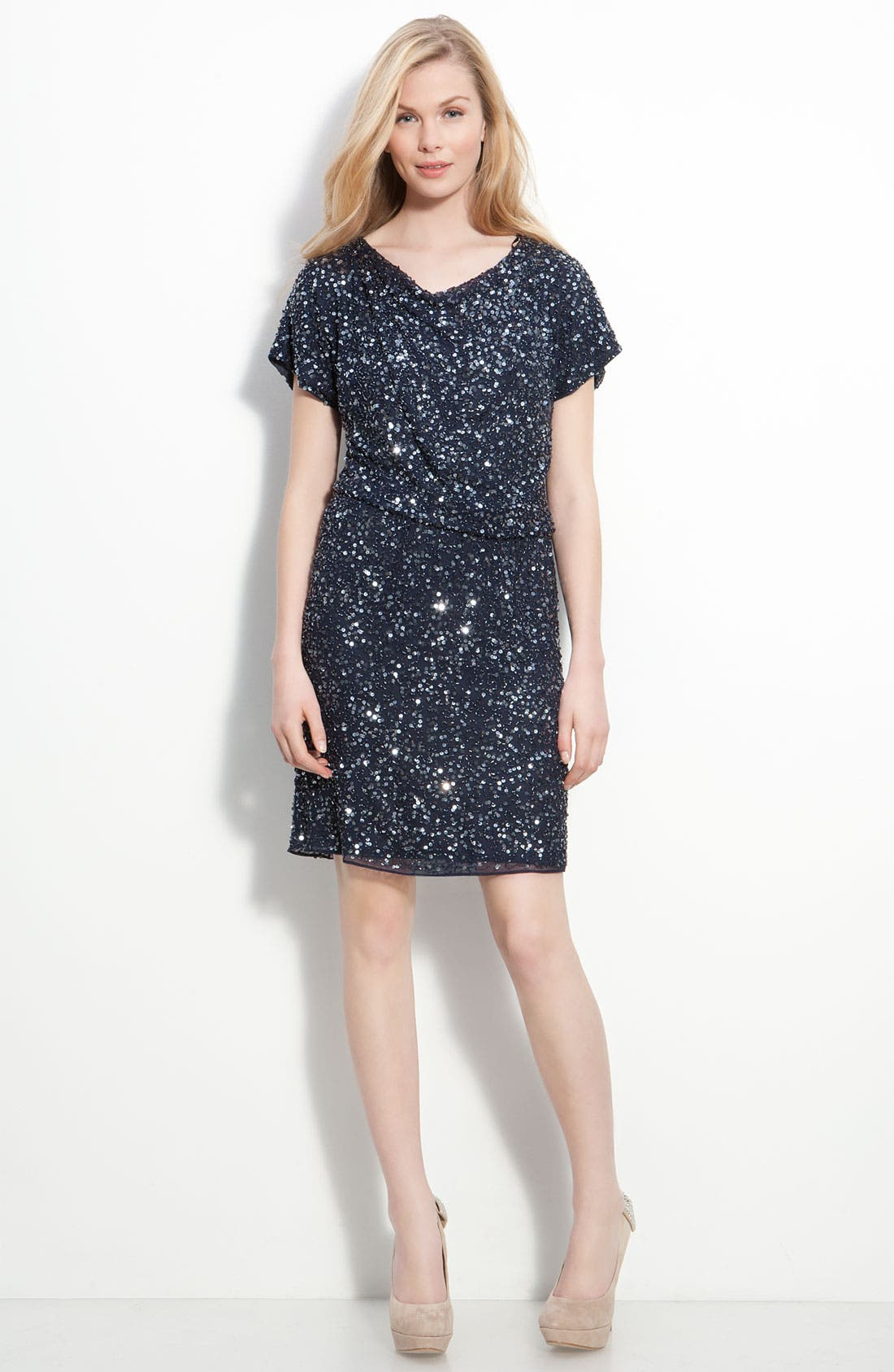 Alternate Image 3  - Pisarro Nights Embellished Silk Chiffon Dress