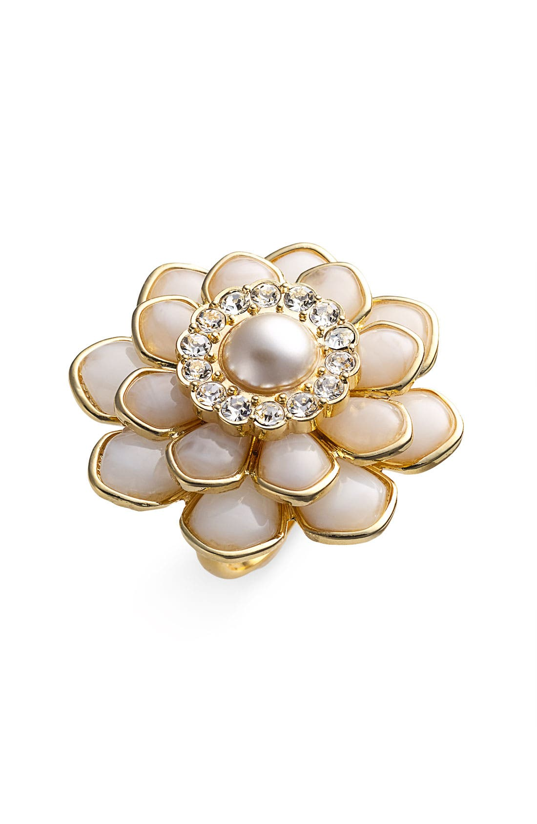 Main Image - kate spade new york 'sweet zinnia' oversized floral ring