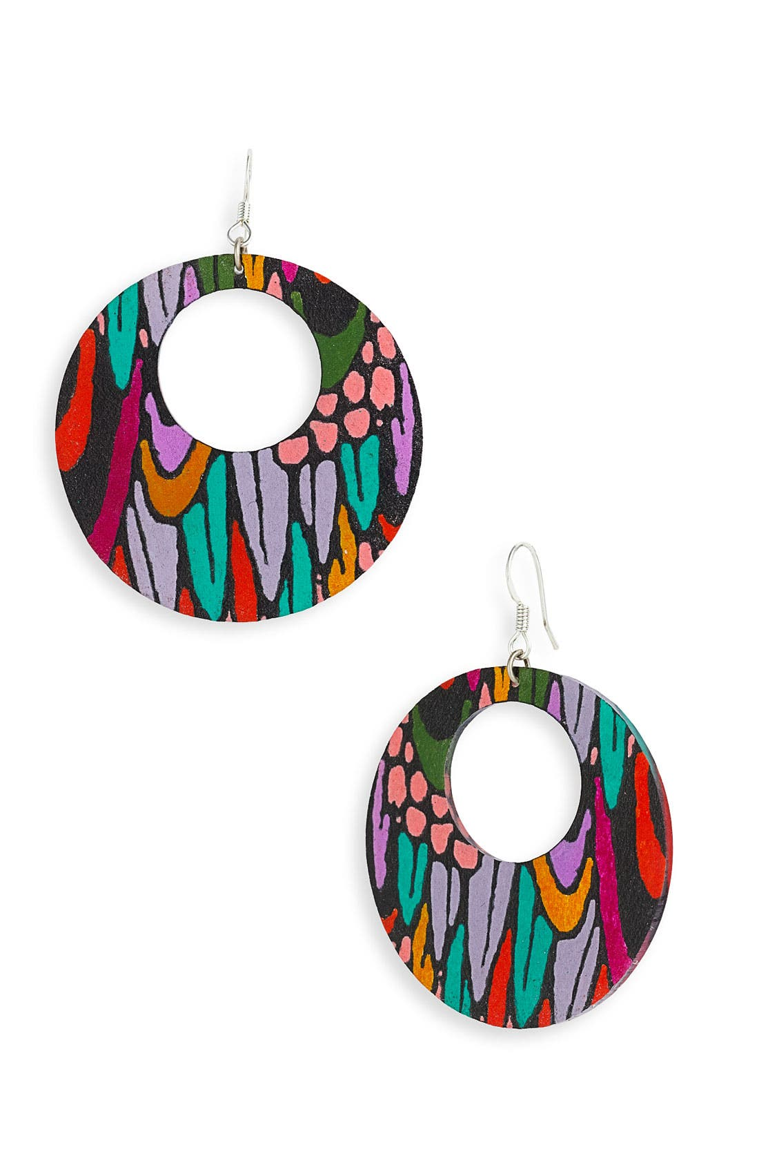 Main Image - Passionflower Open Circle Drop Earrings