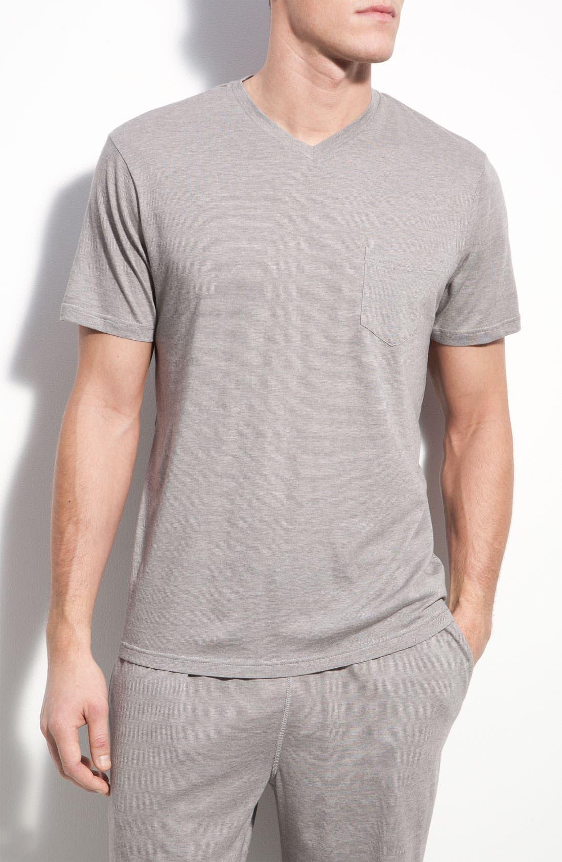Alternate Image 1 Selected - Daniel Buchler Pima Cotton & Modal V-Neck T-Shirt