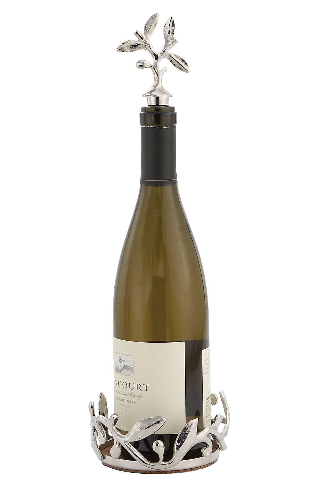 Main Image - Michael Aram 'Vine' Wine Bottle Coaster & Stopper Set