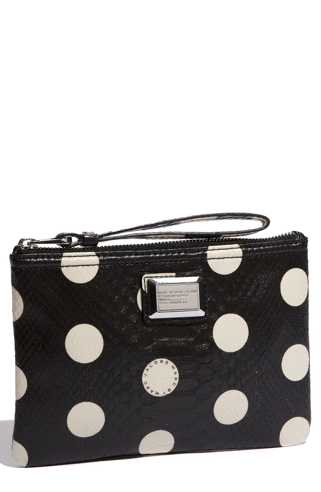 Alternate Image 1 Selected - MARC BY MARC JACOBS 'Dotty Snake' Faux Leather Wristlet