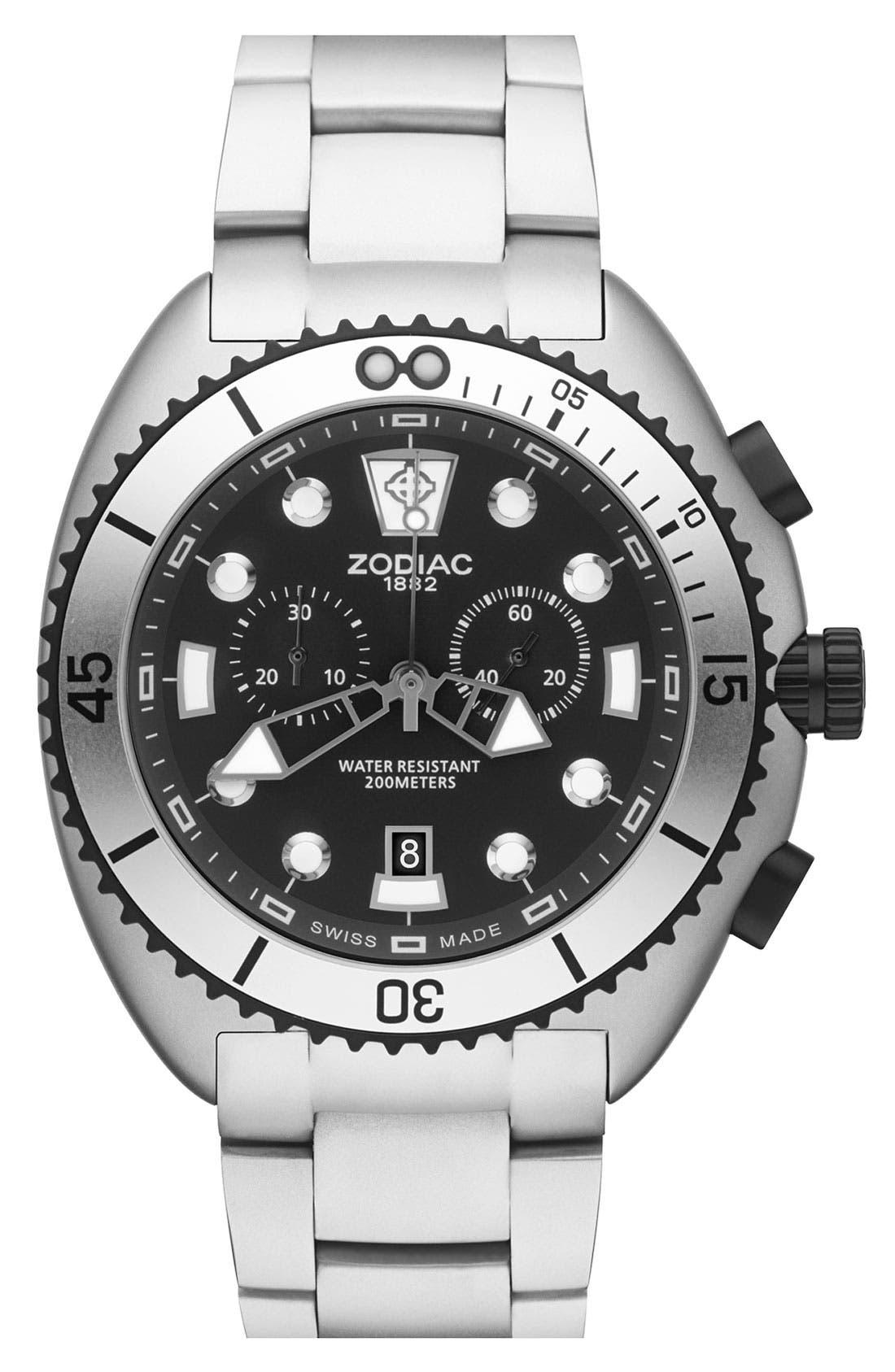 Main Image - Zodiac 'Oceanaire' Round Bracelet Watch