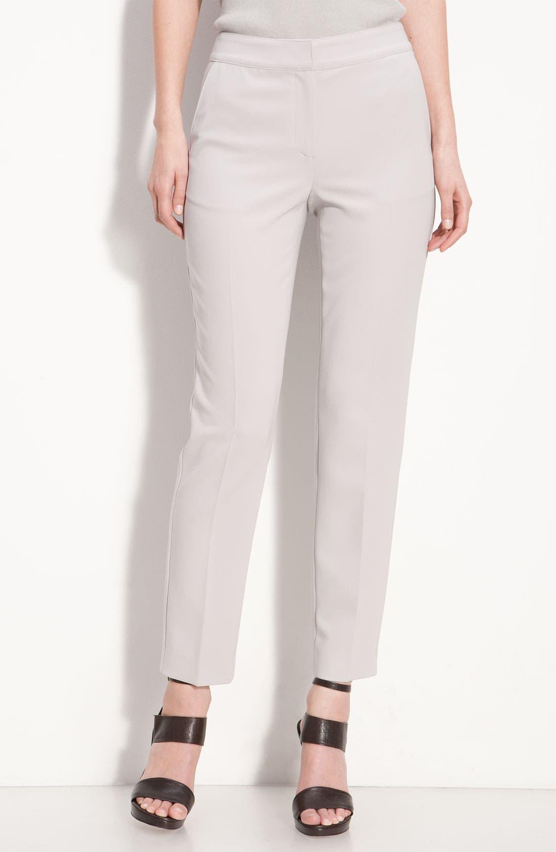 Alternate Image 1 Selected - St. John Collection Crepe Marocain Crop Pants