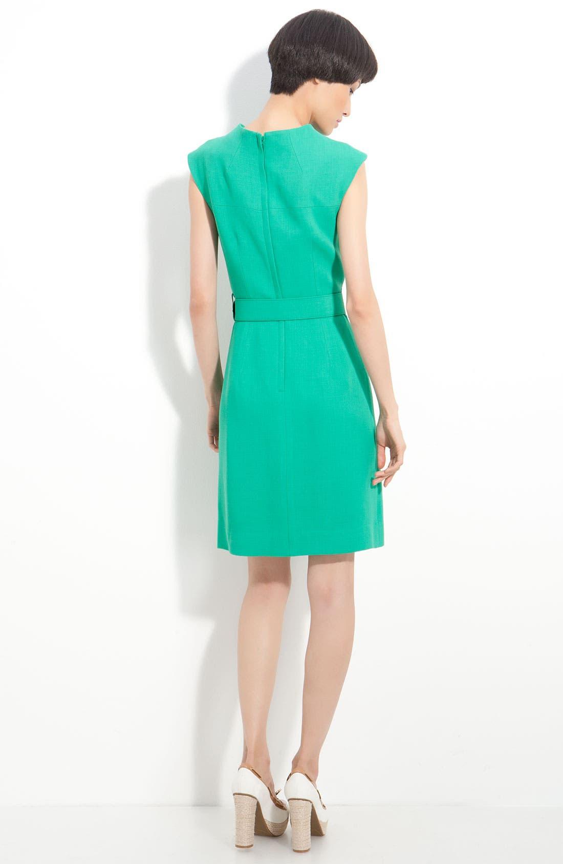 Alternate Image 2  - Milly 'Joanne' Belted Double Weave Dress