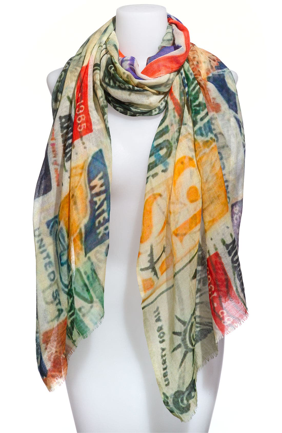 Alternate Image 3  - Shawlux 'Captured Moments - Vintage Stamps' Scarf