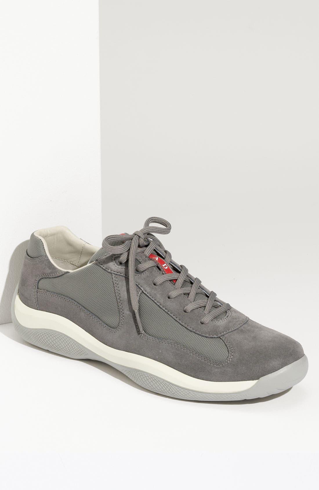 Main Image - Prada 'Punta Ala' Suede Sneaker (Men)