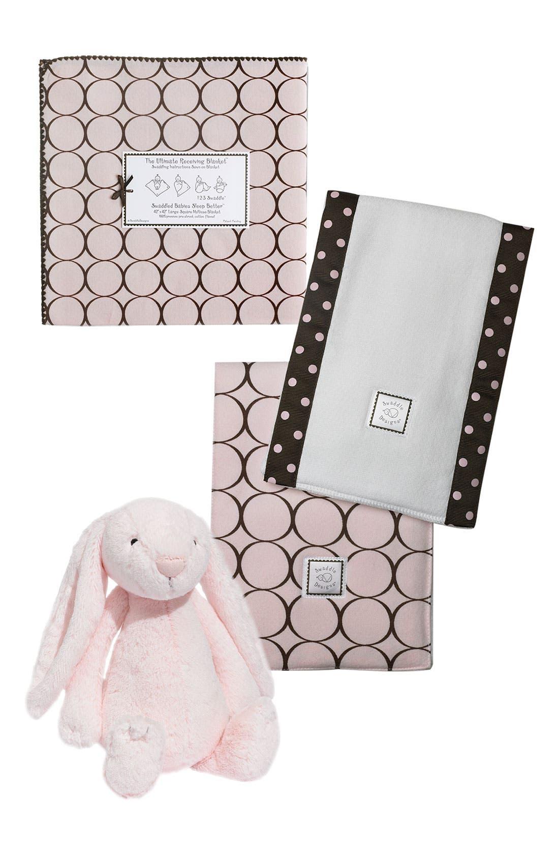 Alternate Image 1 Selected - Swaddle Designs Receiving Blanket & Burb Cloth Set (Infant)