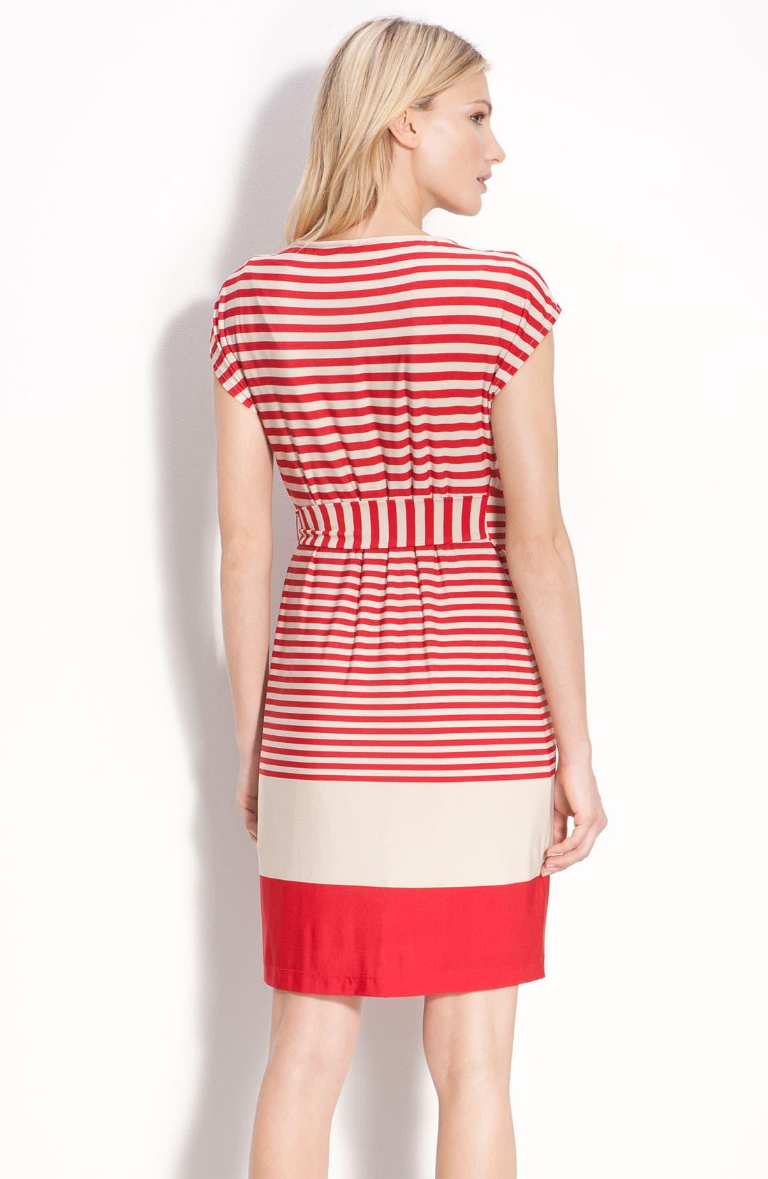 Alternate Image 2  - Donna Morgan Drape Neck Jersey Dress