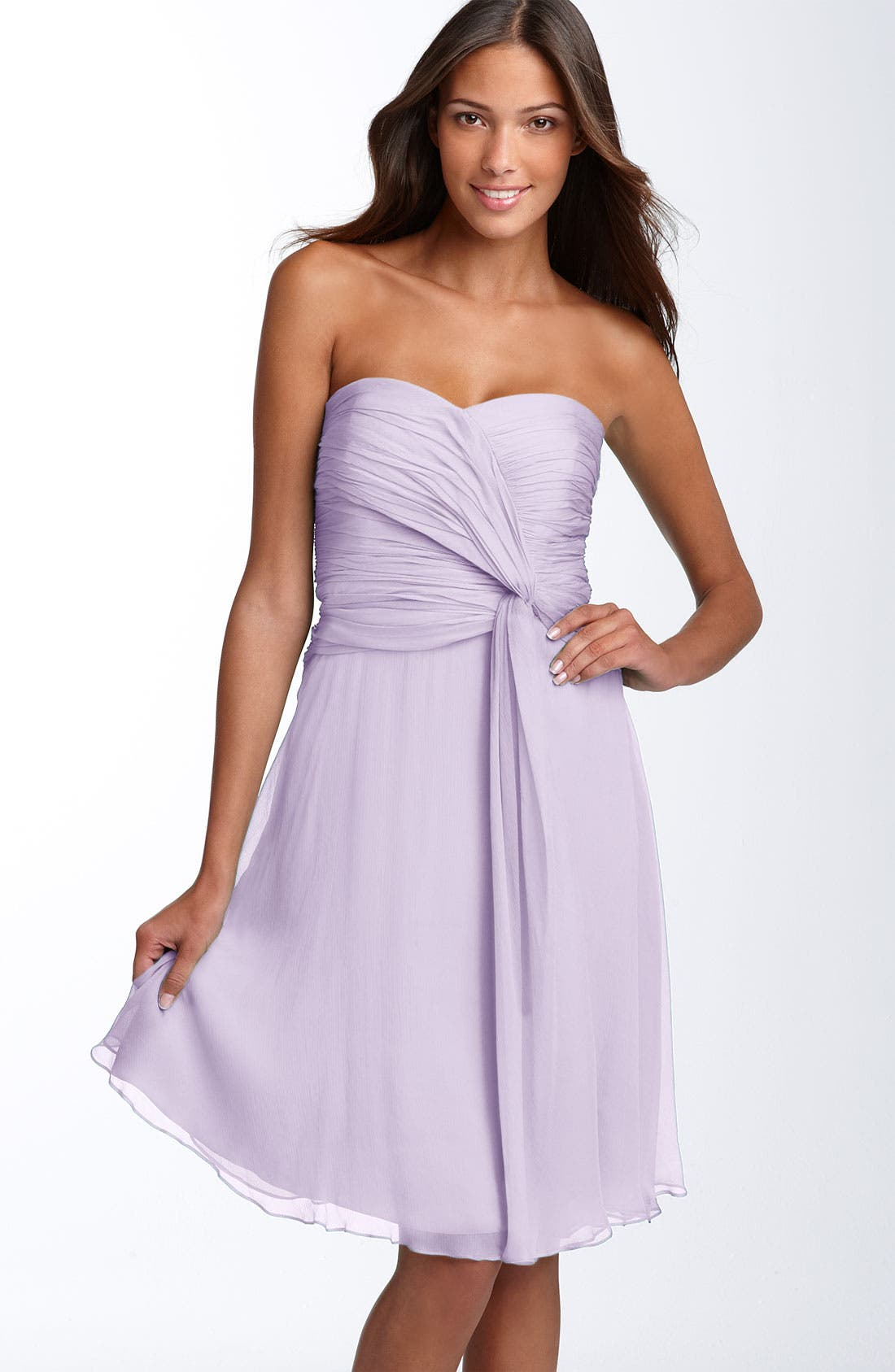 Main Image - Donna Morgan Twist Detail Chiffon Dress