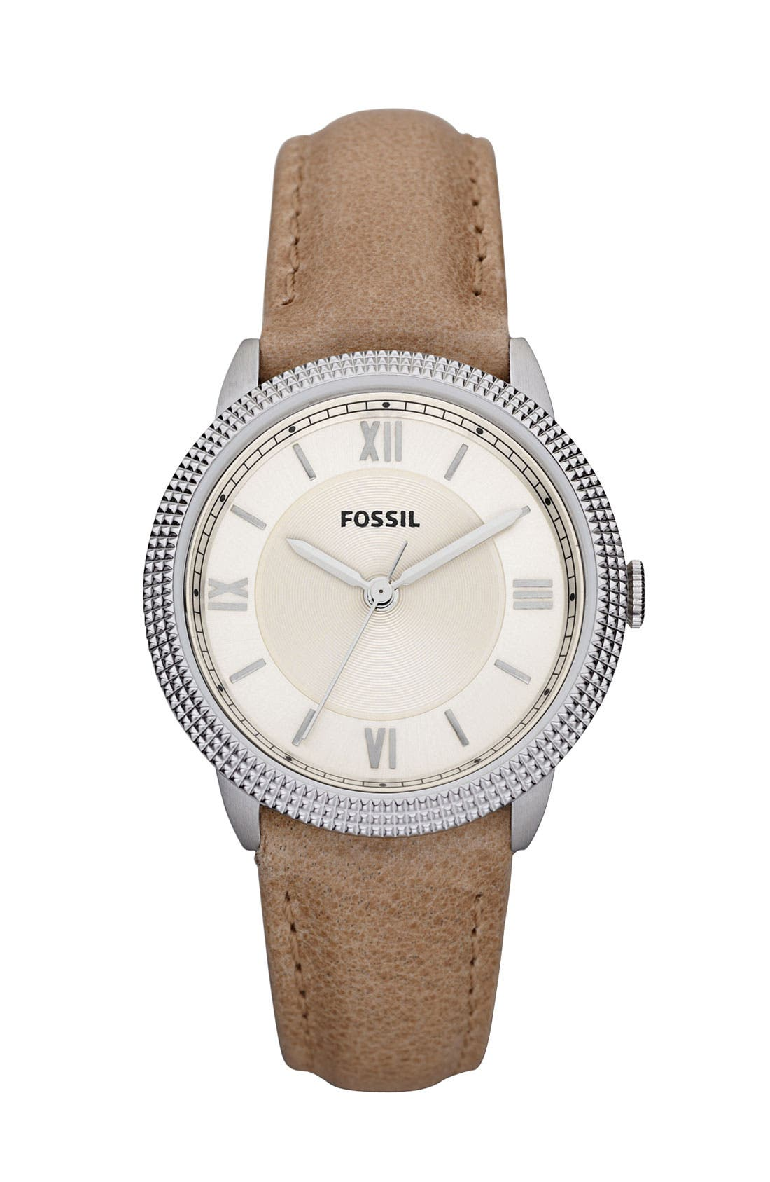 Alternate Image 1 Selected - Fossil 'Mini Sydney' Leather Strap Watch
