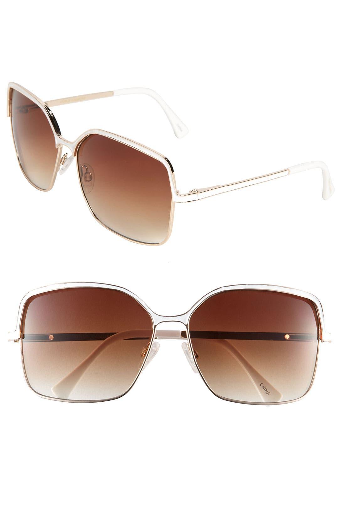 Main Image - Vince Camuto 60mm Square Metal Sunglasses