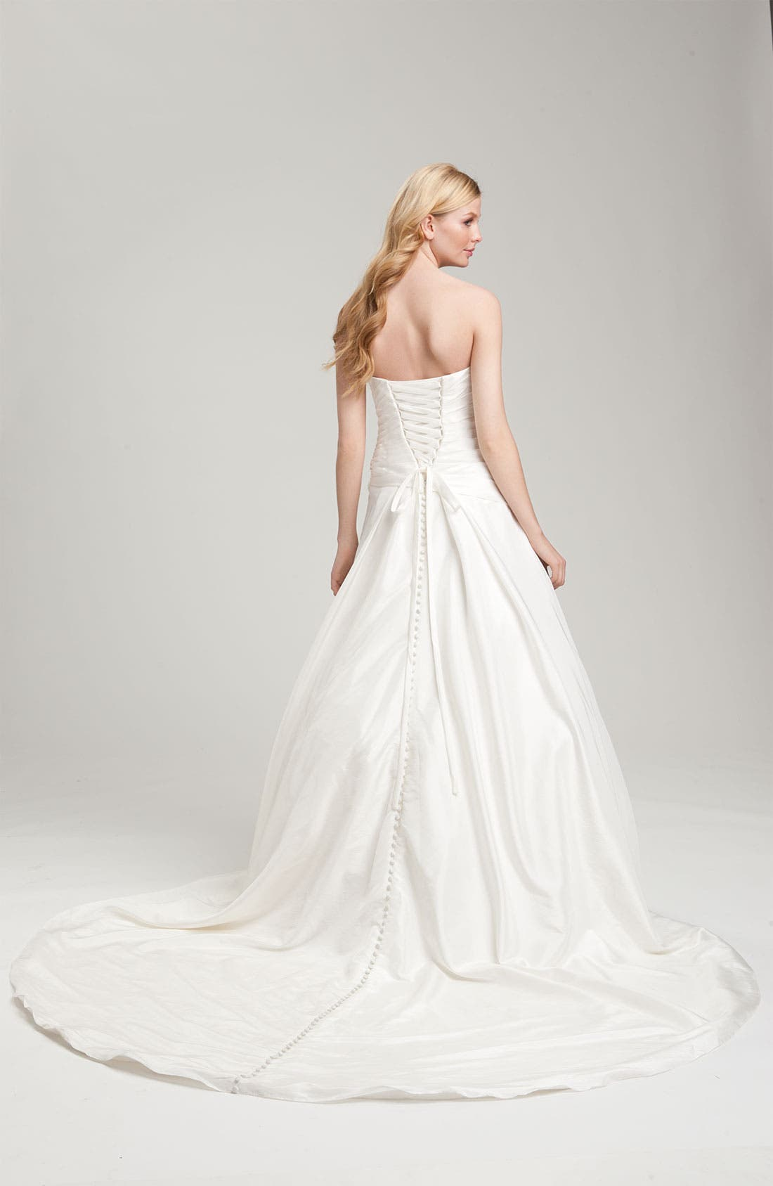 Alternate Image 2  - Faviana Ruched Taffeta Strapless Gown