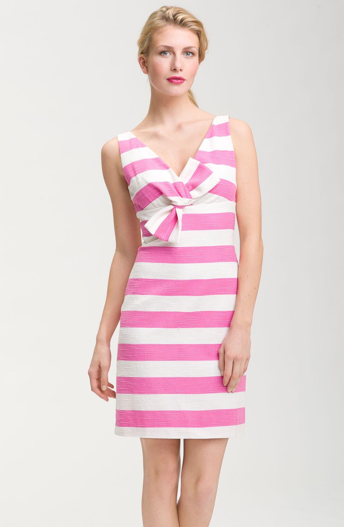 Alternate Image 1 Selected - kate spade new york 'silverscreen' stripe bow front dress