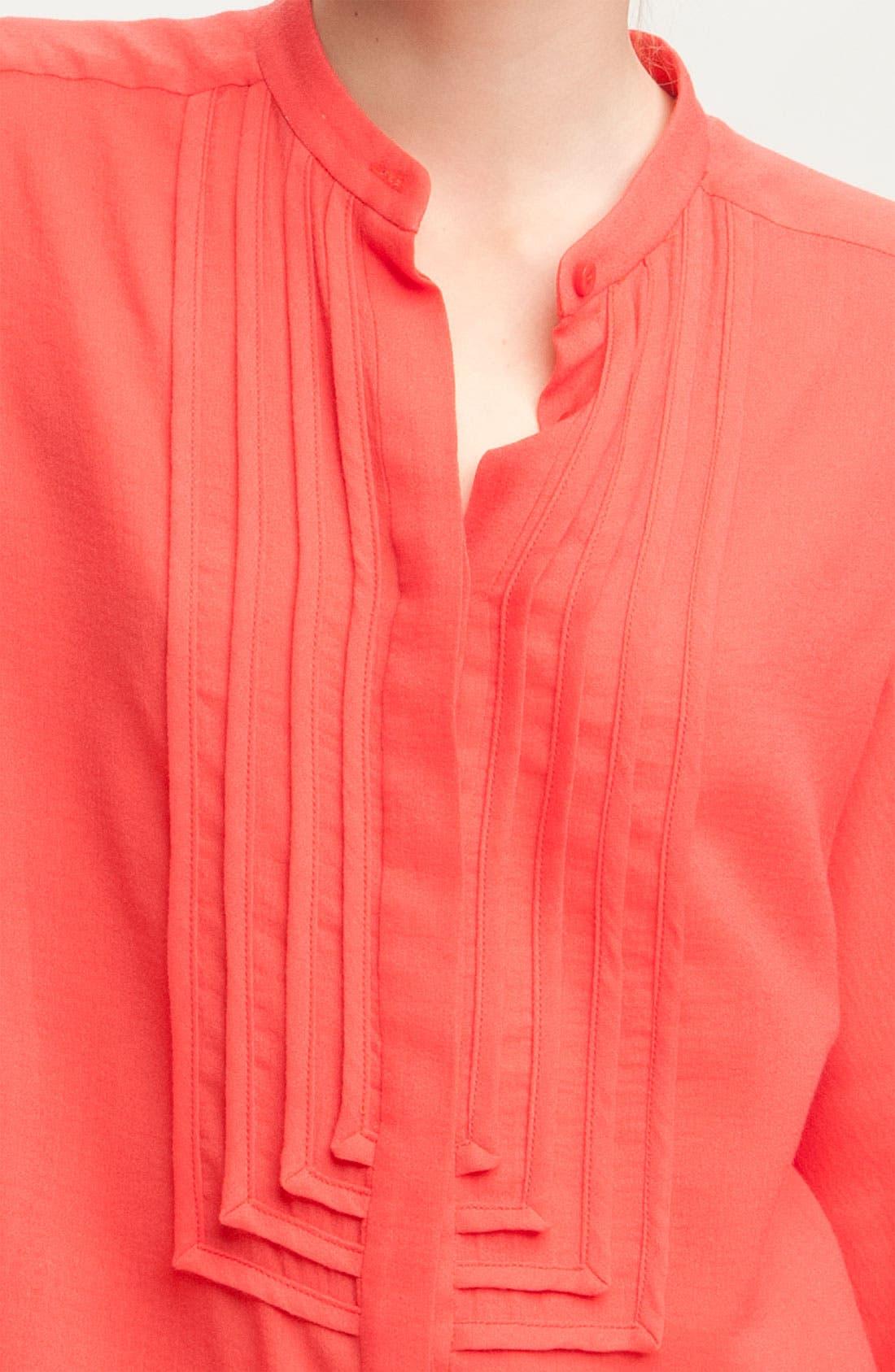 Alternate Image 3  - Diane von Furstenberg 'Hatti' Oversized Mandarin Collar Tuxedo Shirt