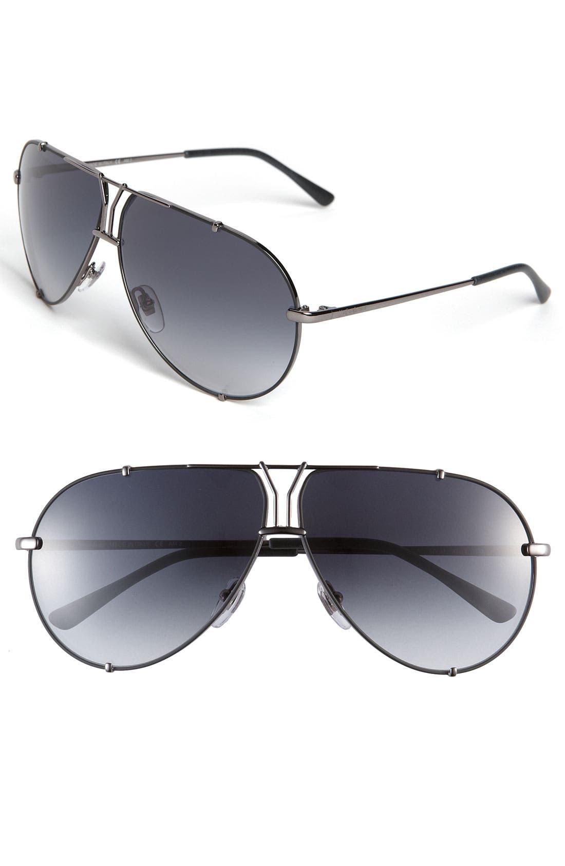 Alternate Image 1 Selected - Yves Saint Laurent Metal Aviator Sunglasses