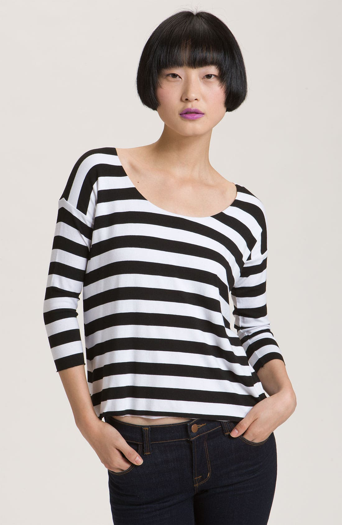 Alternate Image 1 Selected - Bailey 44 'Buh Bye' Back Strap Stripe Top
