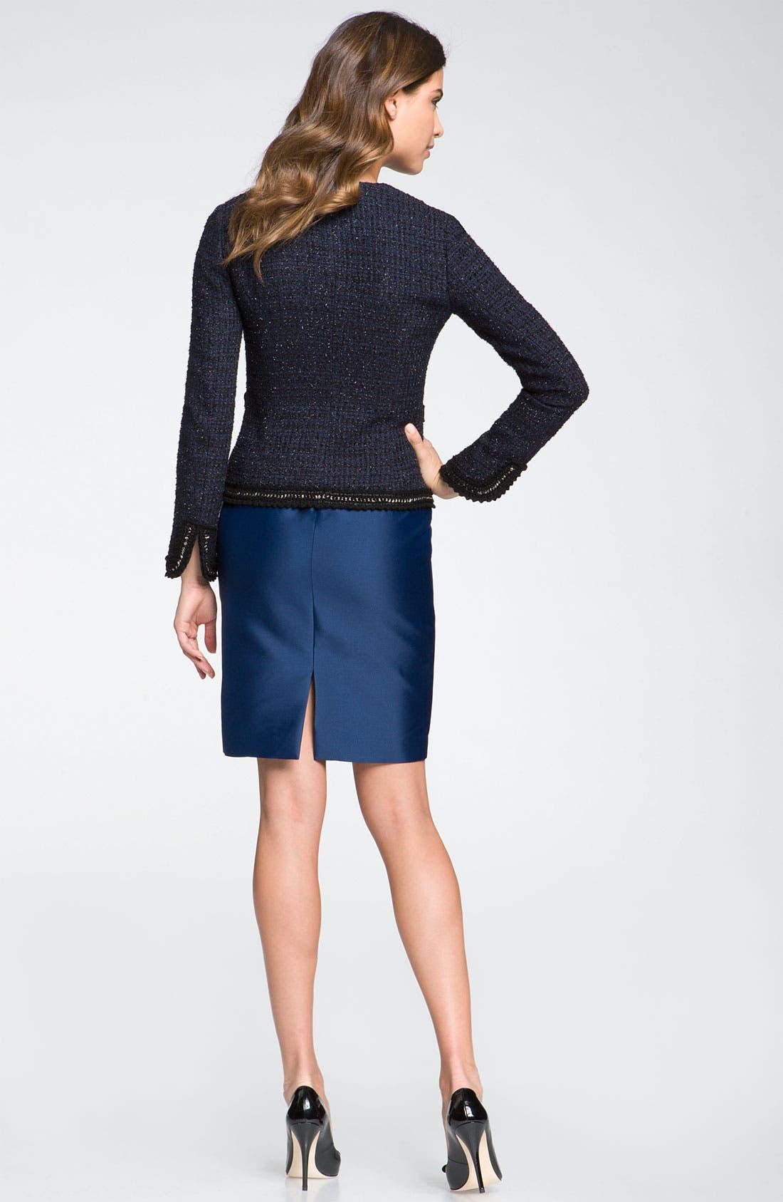 Alternate Image 2  - St. John Collection Braid Trim Fitted Tweed Jacket