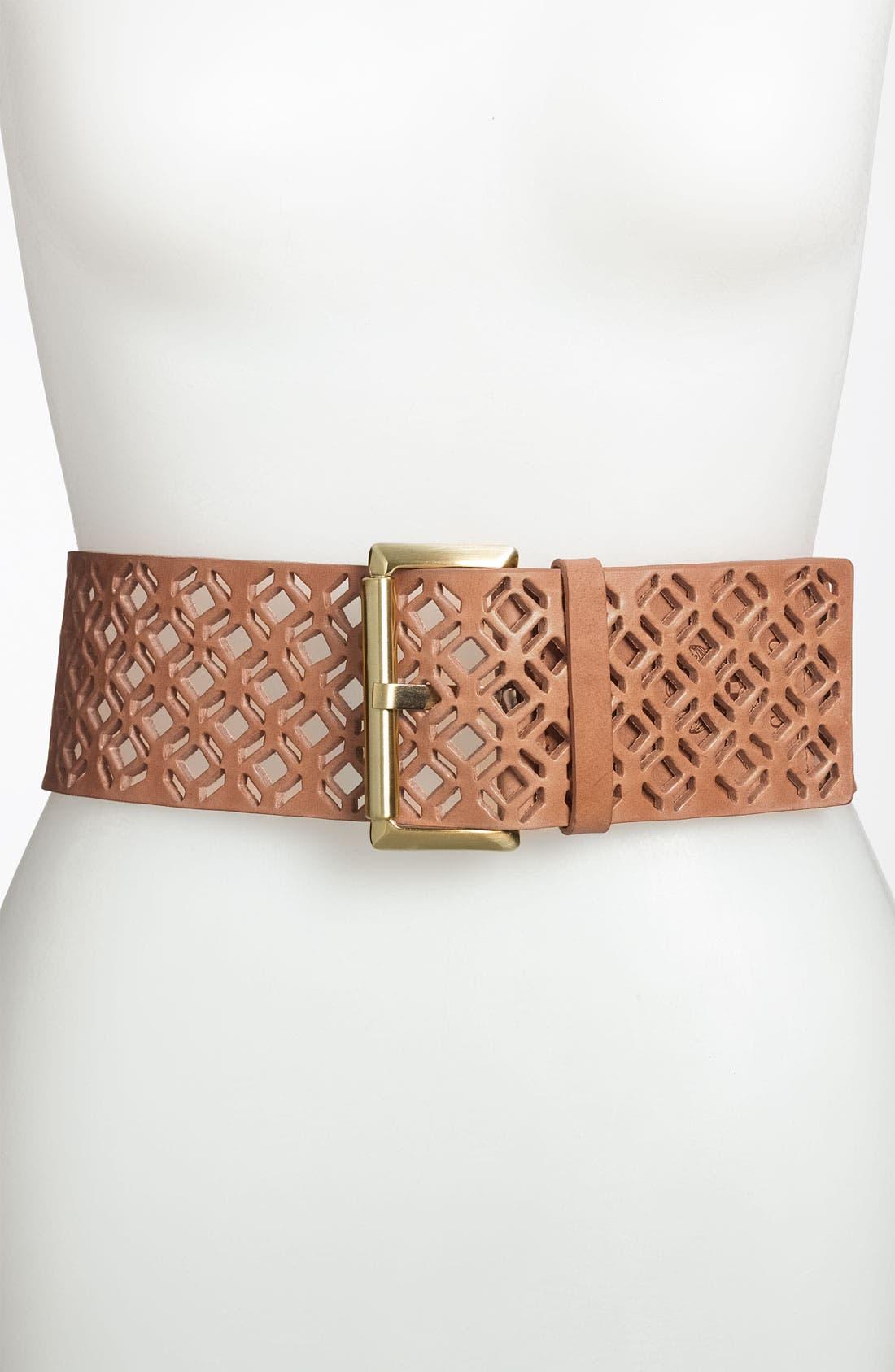 Alternate Image 1 Selected - Vince Camuto Roller Buckle Belt