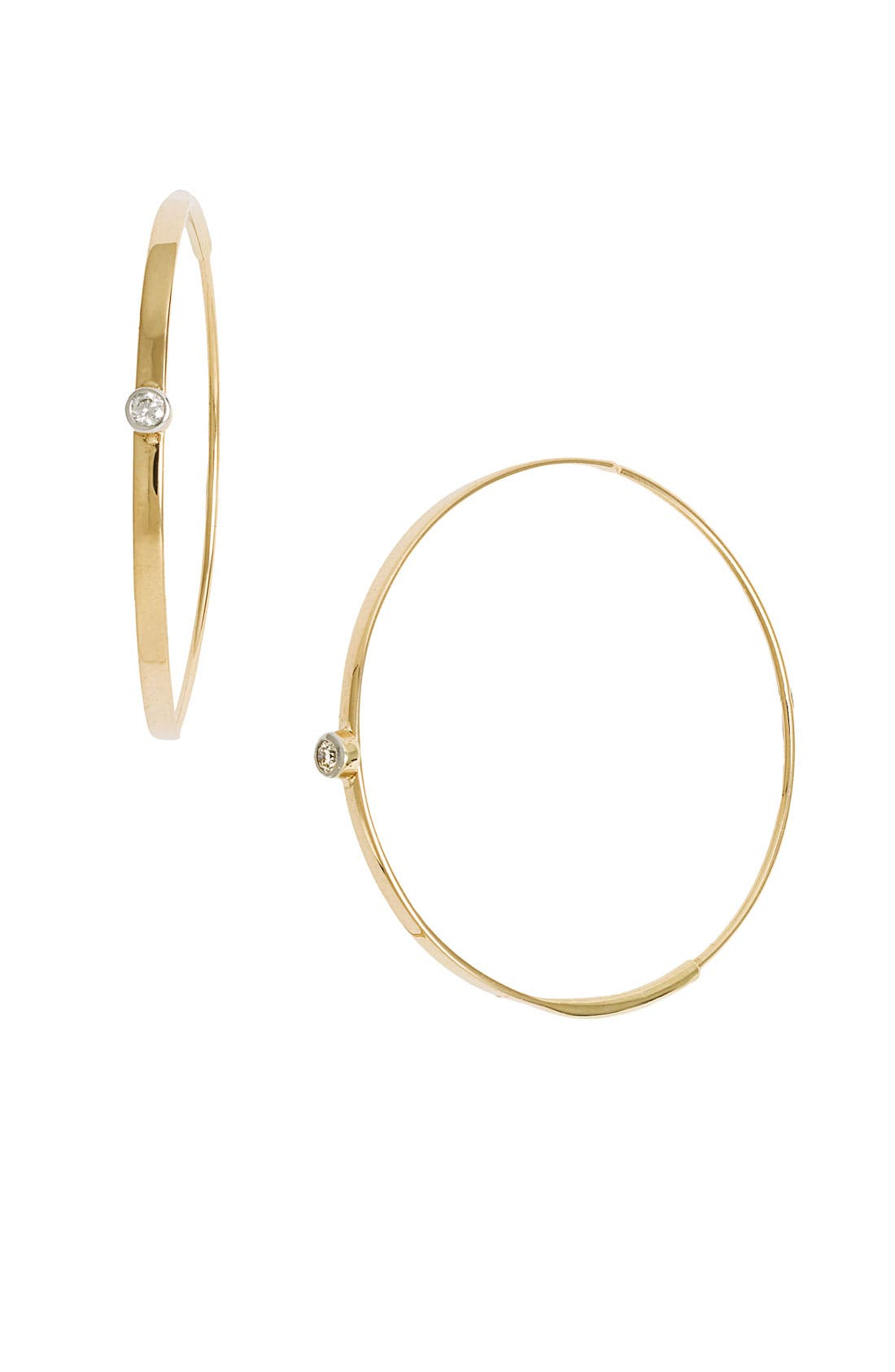 Alternate Image 1 Selected - Lana Jewelry 'Small Flat Magic' Diamond Hoop Earrings