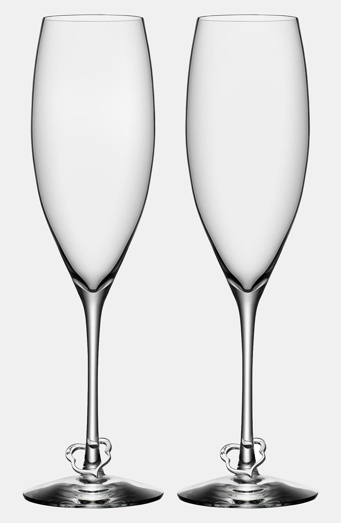 Main Image - Orrefors 'Crazy Heart' Champagne Flutes (Set of 2)