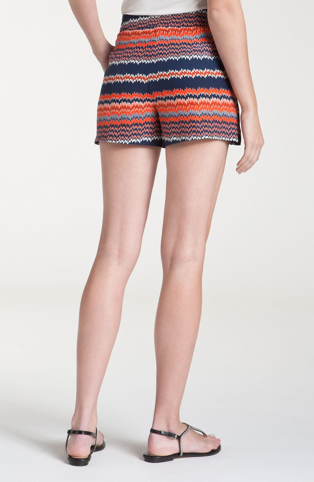 Alternate Image 2  - Parker Origami Ruffle Print Silk Shorts