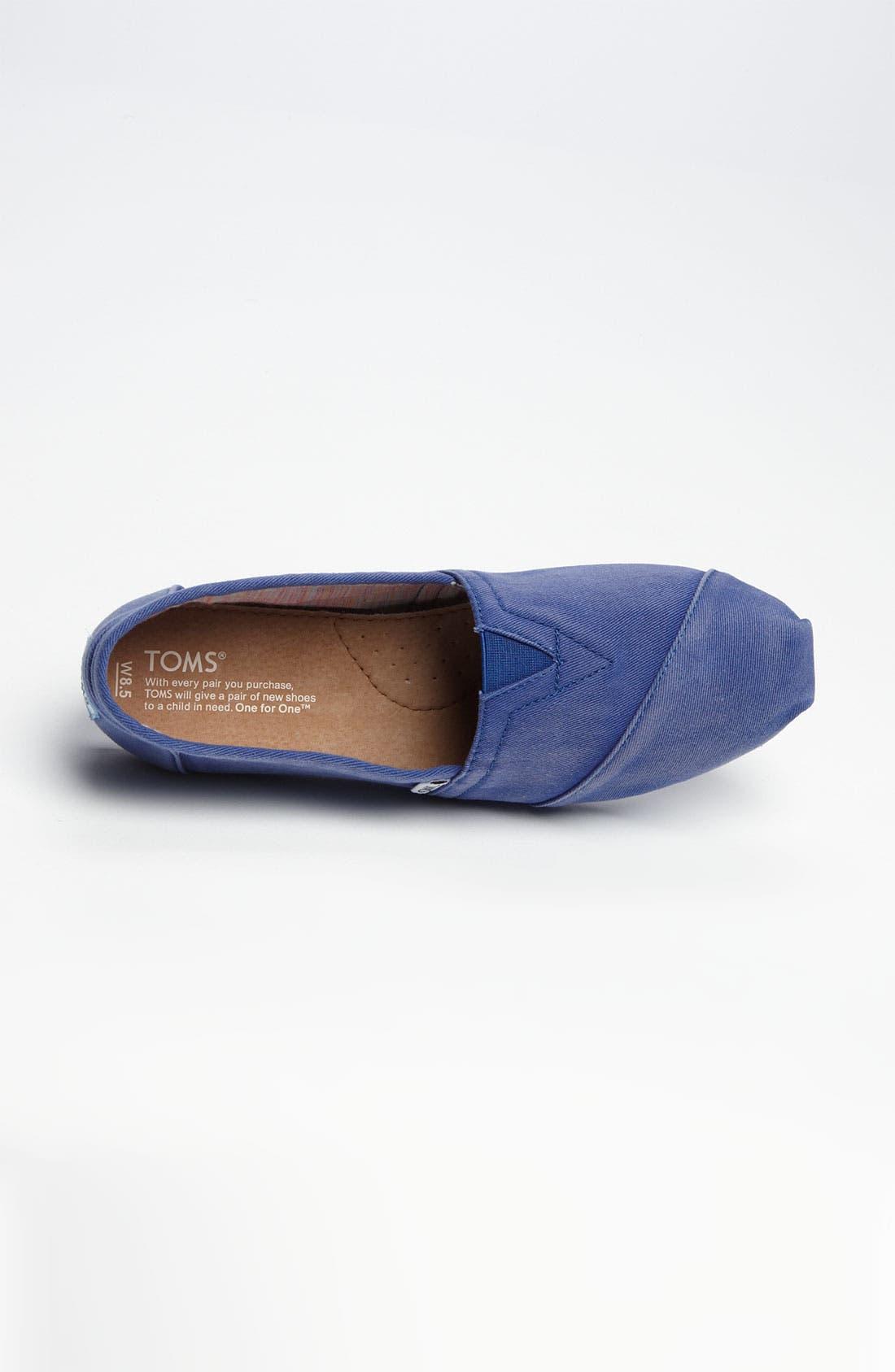 'Seasonal Classic - Palmetto' Slip-On,                             Alternate thumbnail 3, color,                             Blue