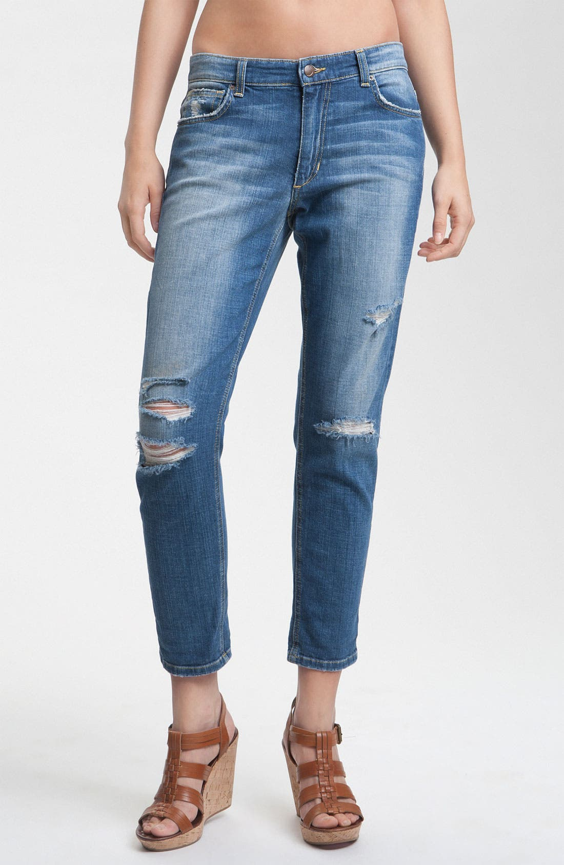Main Image - Joe's 'Easy Fit' Destroyed Crop Jeans (Penelope)